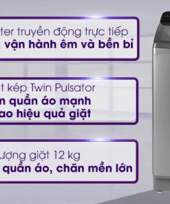 Máy giặt Aqua Inverter 12 Kg AQW-DR120CT