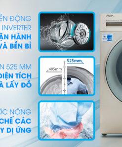 Máy giặt Aqua Inverter 9.5 kg AQD-D950E W